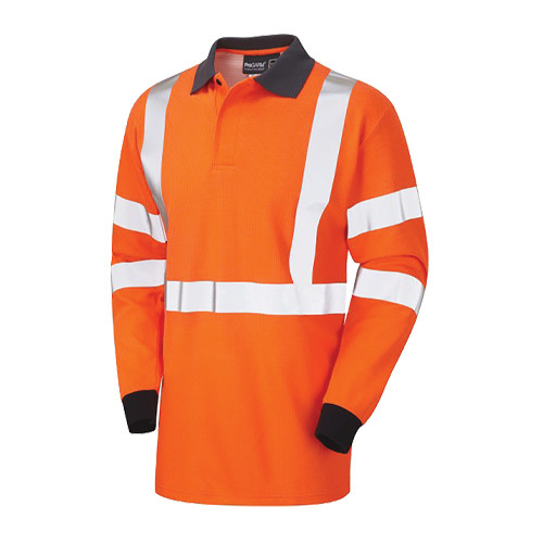 ProGarm 5290 Arc Polo Shirt Hi Vis Orange Rail Spec