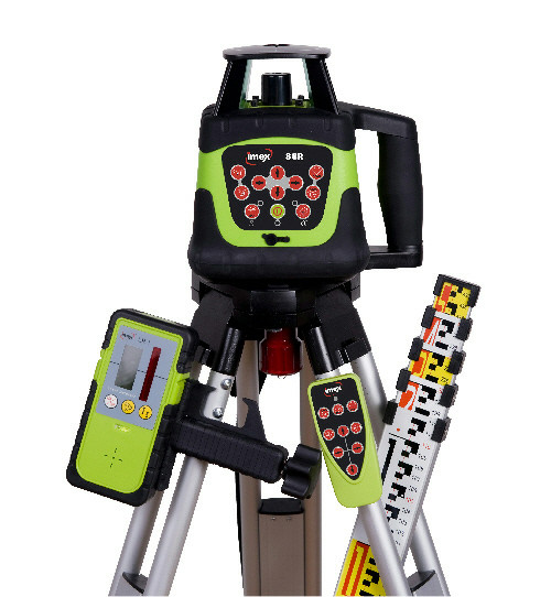 HV Rotating Laser Level Kit (which includes 5m Metric Staff & Flat Top Tripod)