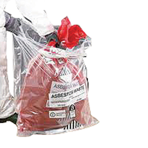 Red Asbestos Sacks