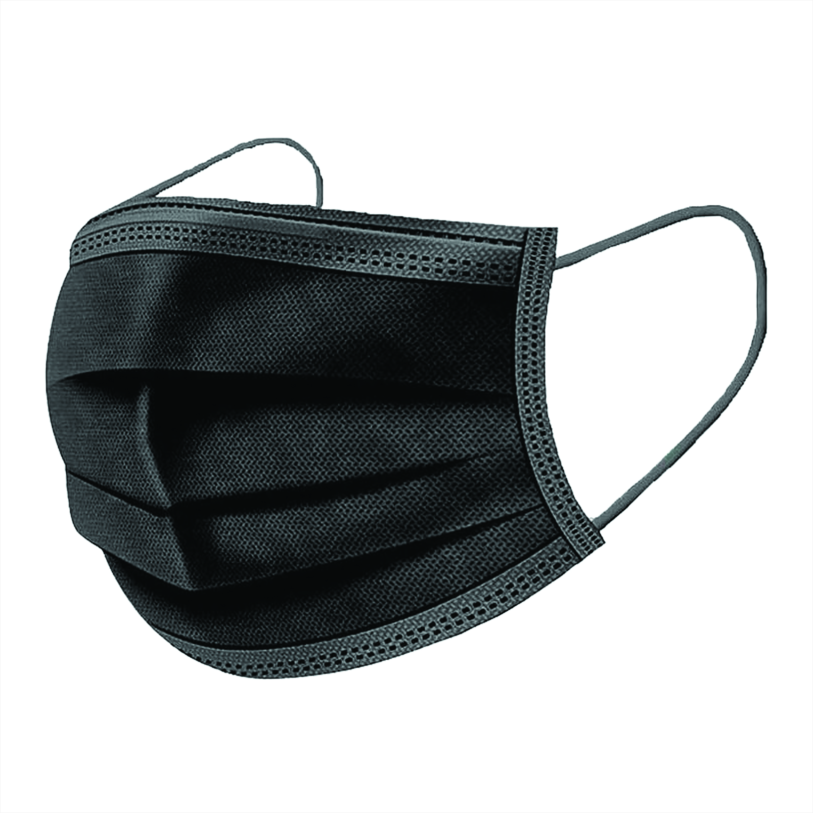 Black Surgical Face Mask | 3-Ply