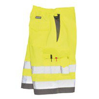 Hi Vis Poly Cotton Shorts Yellow
