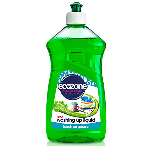Eco-Friendly Lime Washing Up Liquid, Long-Lasting Concentrated Formula