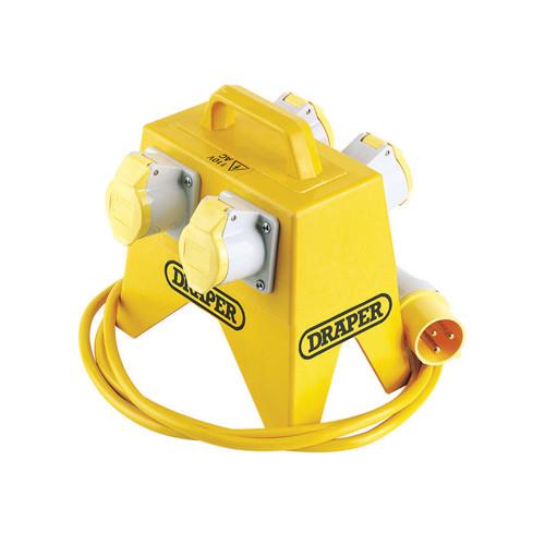 4 Way Splitter Box 110V c/w Plug