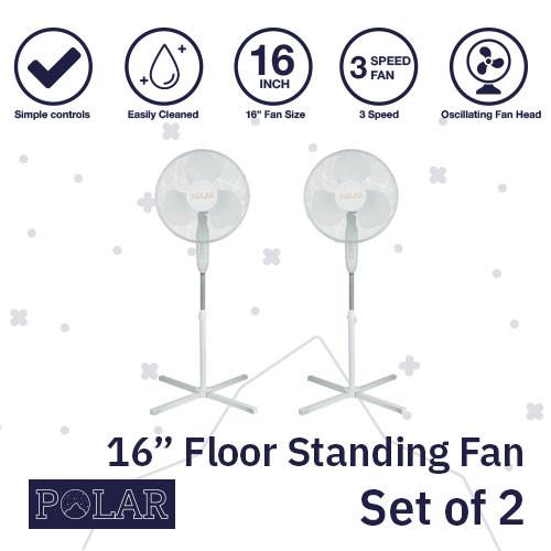 """16"""" Floor Standing Fan 240V - PACK OF 2"""