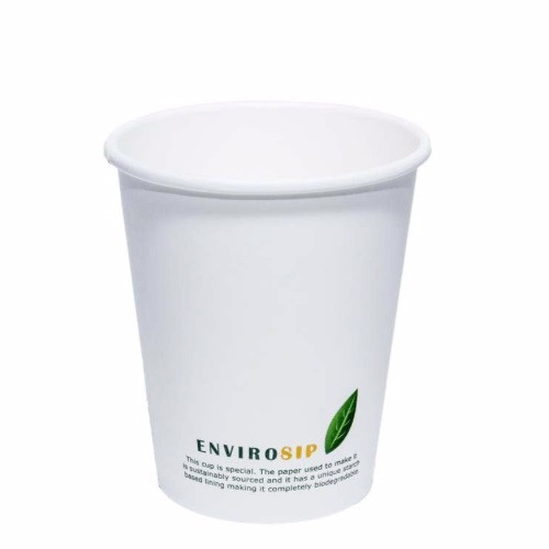8oz Biodegradable Paper Cup [Single Wall] (Case of 1000)