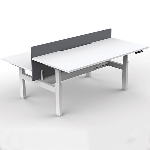 Arch Desking System Back-To-Back Configuration, White Top & Frame, Executive Furniture - EXADSWW
