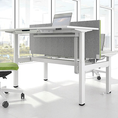 Hike Sit-Stand Back-to-Back Desk,Robust and lightweight, Electrically height adjustable  - EXHSBWW - 2