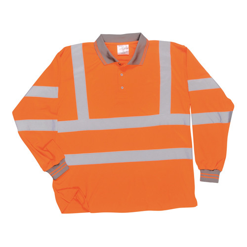 Long Sleeved Polo Shirt - Orange