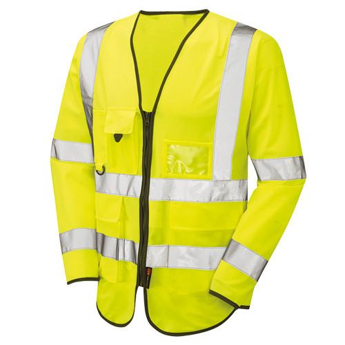 Hi Vis Long Sleeved Executive Vest Yellow - WRAFTON - XXXXLarge
