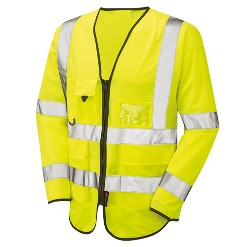 Hi Vis Long Sleeved Executive Vest Yellow - WRAFTON - Small