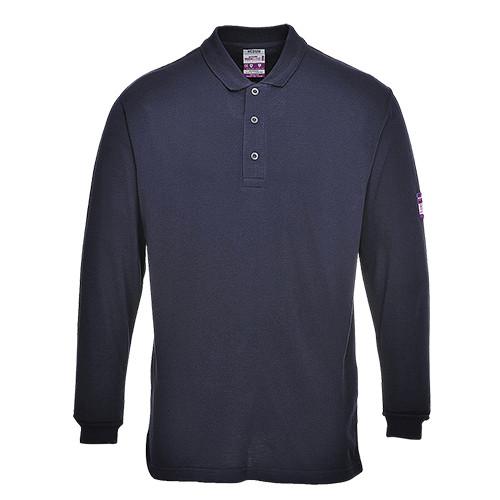 Long Sleeved Polo Shirt Flame Retardant Navy XXXXL