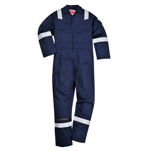 FR21 BizFlame Super Light Weight Flame Retardant Anti - Static Coverall 210gm - Navy - 3XL