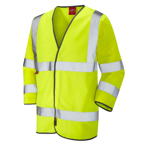 Hi Vis Flame Retardant 3/4 Sleeve Vest Yellow - Size 2XL