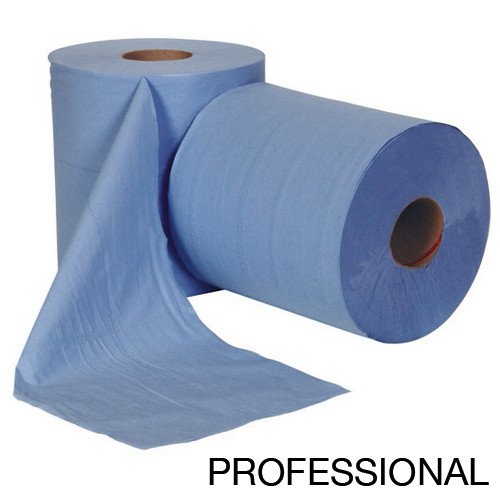 Professional Centre Feed Roll 2 Ply  Blue - Pack 6