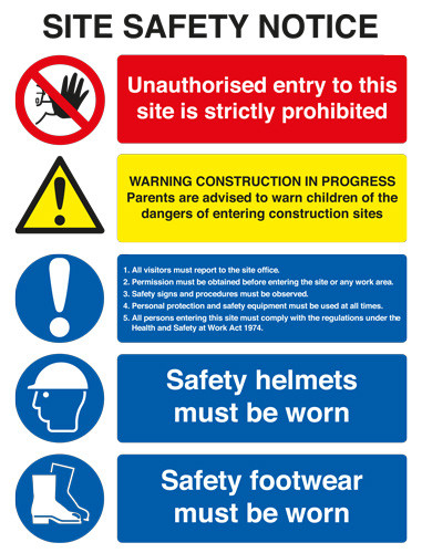 Site Safety Board A1 Rigid Plastic