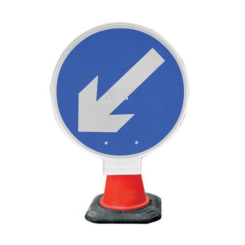 Cone Sign - Arrow Left