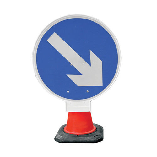 Cone Sign - Arrow Right