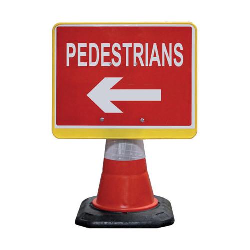 Cone Sign - Pedestrian Left