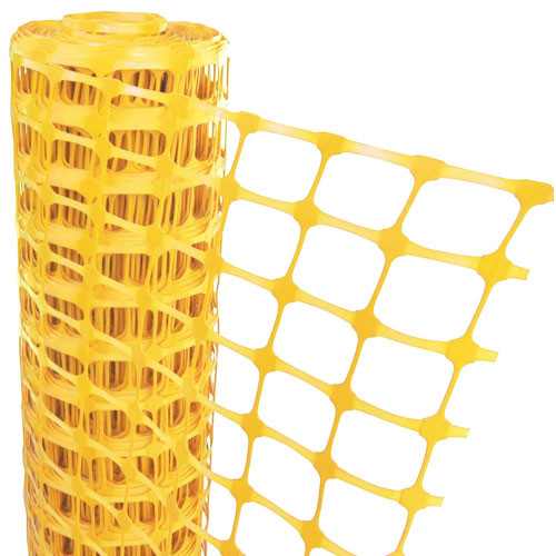 Yellow Mesh Barrier Fencing - 50m