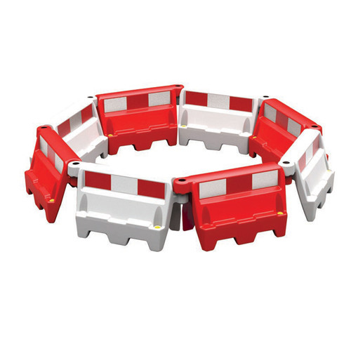 White Evo Stackable Road Wall Barrier