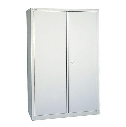 Steel 2 Door Cupboard 1950m High with 4 Shelves - Grey