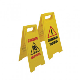Double Sided Safety Sign - Cleaning