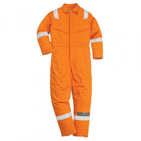 FR21 BizFlame Super Light Weight Flame Retardant Anti - Static Coverall 210gm - Orange - S