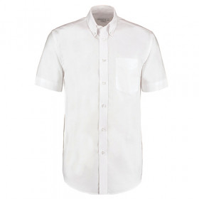 Kustom Kit Premium Oxford Short Sleeve Shirt White