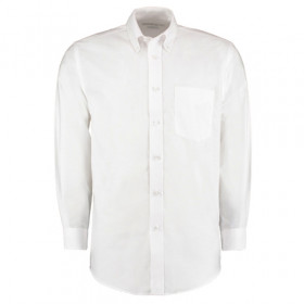Kustom Kit Premium Oxford Long Sleeve Shirt White - Size 18