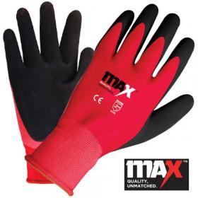 MAX Red Waterproof Glove EN388