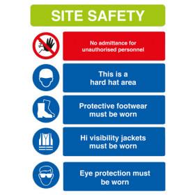 Site Safety Sign A1 Rigid PVC