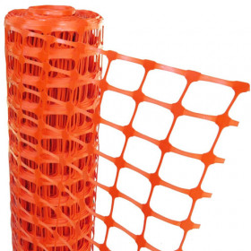 Orange Mesh Barrier Fencing - 50m