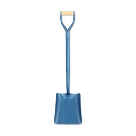 No 2 Square Mouth Shovel - Blue Full Body Steel