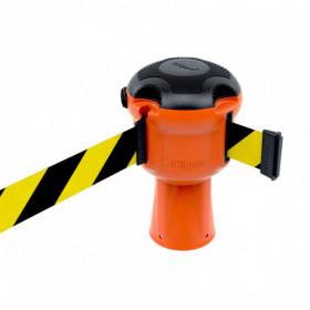 Skipper retractable unit tapes - Yellow/black retractable take unit for cones