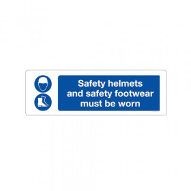 Safety Helmets and Protective Footwear Must Be Worn