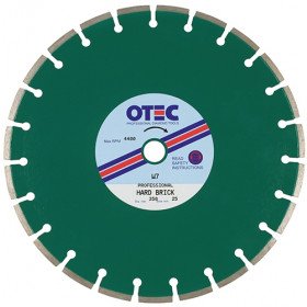 OTEC Professional Diamond Blade - Medium/Hard Brick Cutting Silent Centre