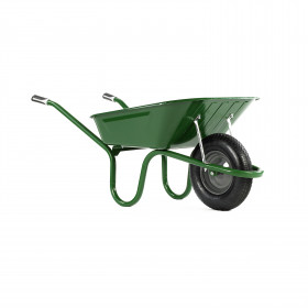 Green Haemmerlin 90ltr Heavy Duty Steel Barrow