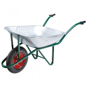 90 Litre Heavy Duty Galvanised Wheelbarrow with Pneumatic Tyre