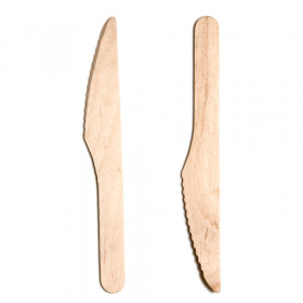 "Wooden Knives, 165mm/ 6.5"" tall, Eco-friendly, Pack Size: 100"