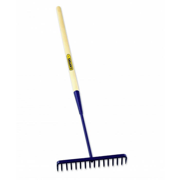 Richard Carter Round Tooth Tarmac Rake w Wooden Handle
