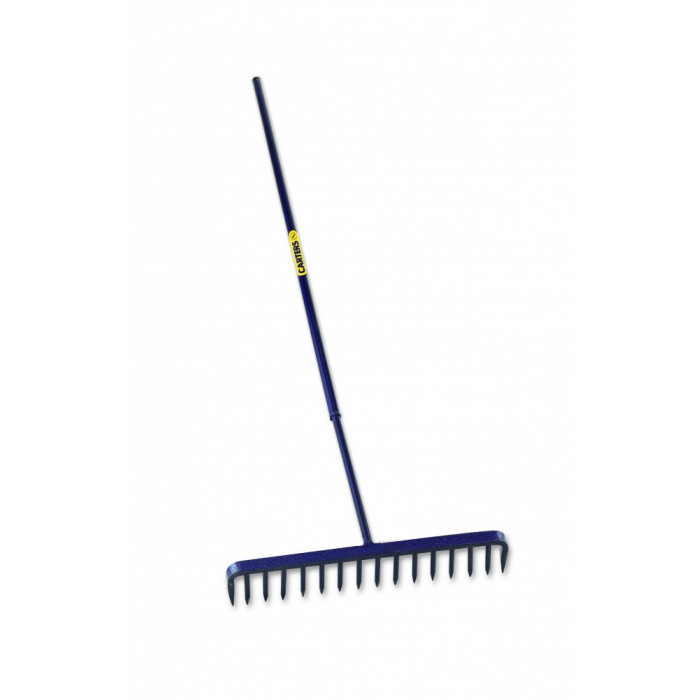 Richard Carter Round Tooth Tarmac Rake w Steel Handle