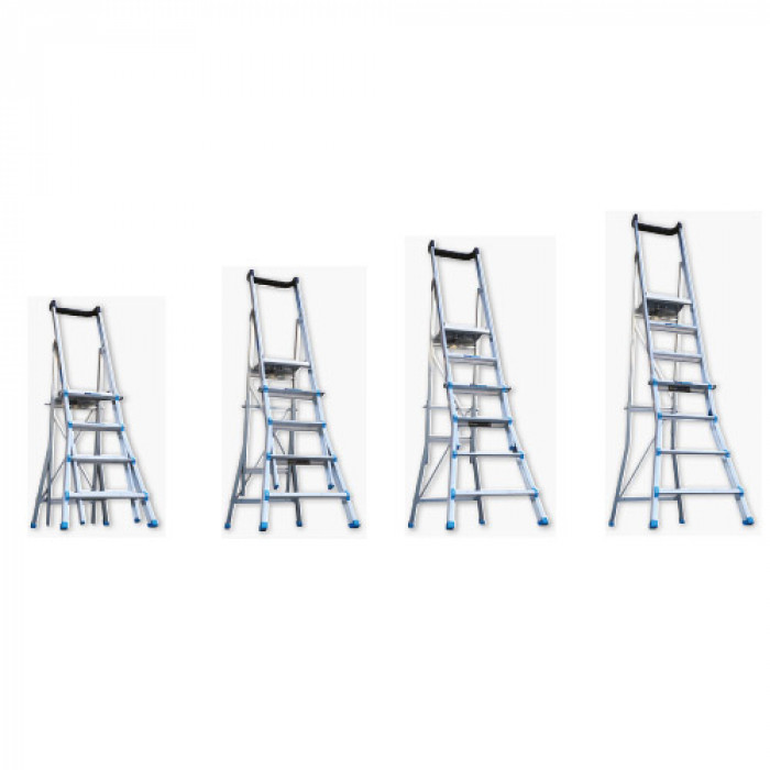 Telescopic Platform Ladder, Load Rating 150 Kg, 4 - 7 Step,  AdjustaStep - 200134
