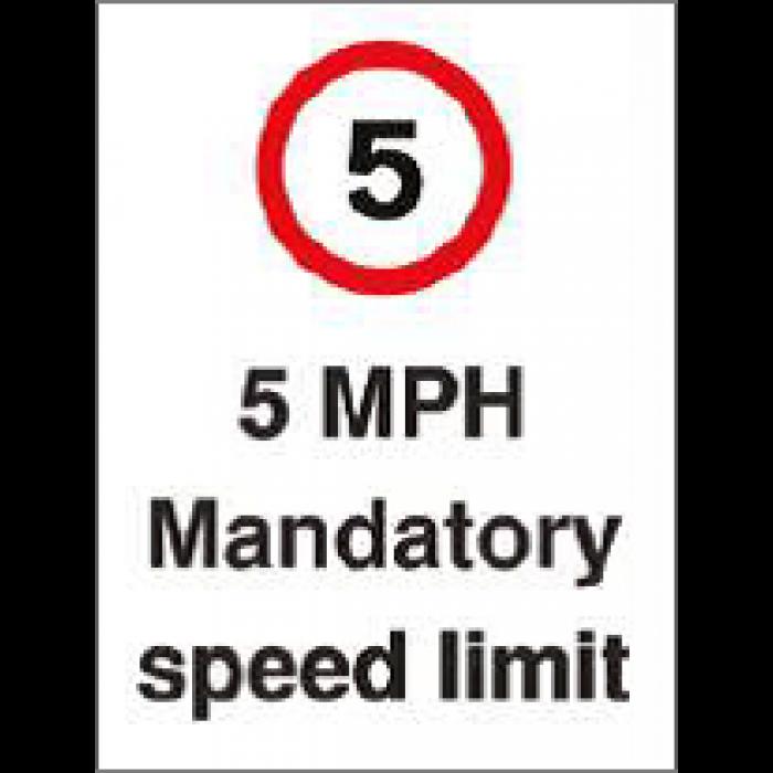 5 MPH Mandatory Speed Limit