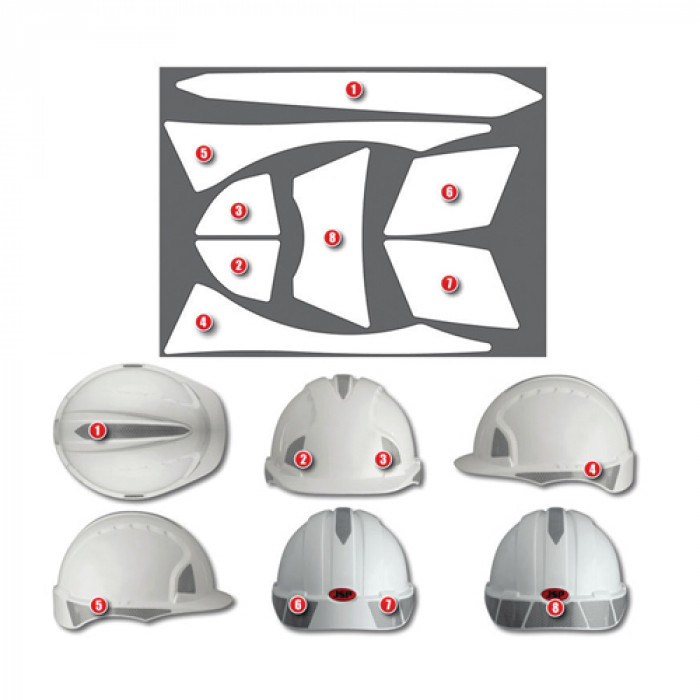 Reflective Helmet Sticker Kits - EVOLite