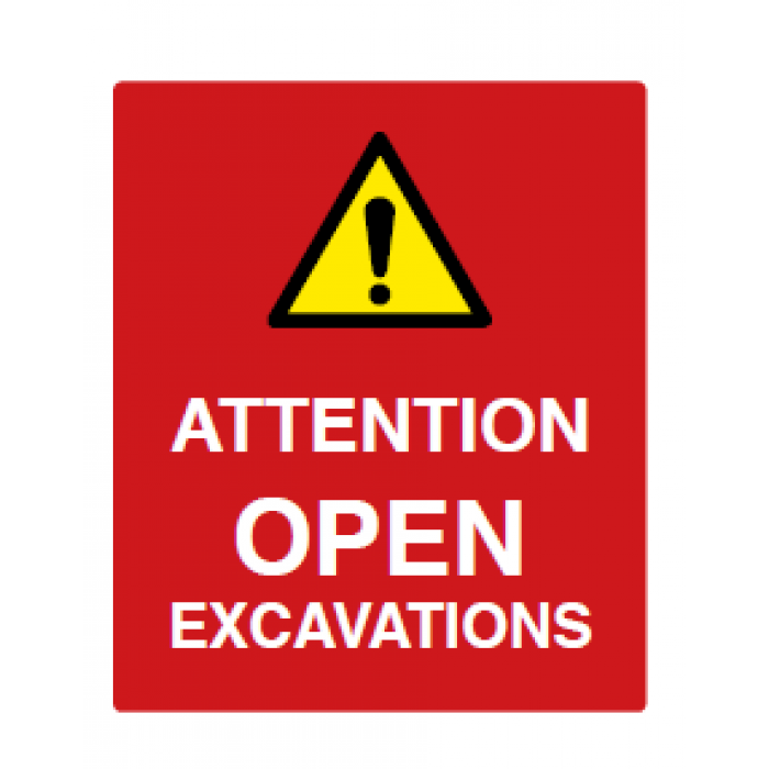 ATTENTION OPEN EXCAVATIONS