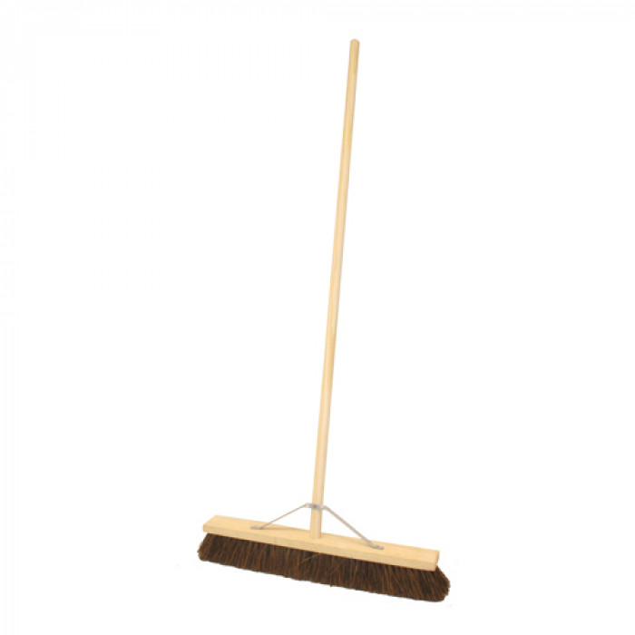 "24""/600mm Platform Bassine Hard Broom c/w Handle & Stay"