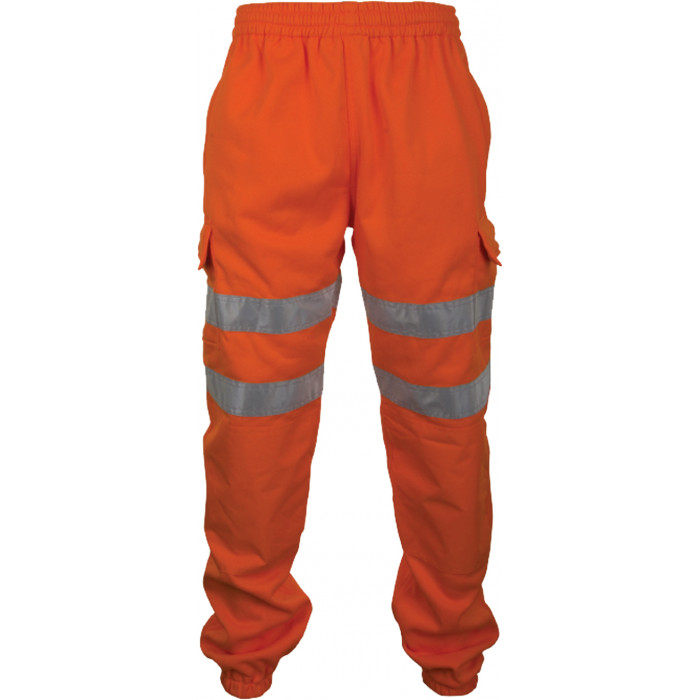 Hi Vis Sweat Jogging Bottoms - Orange
