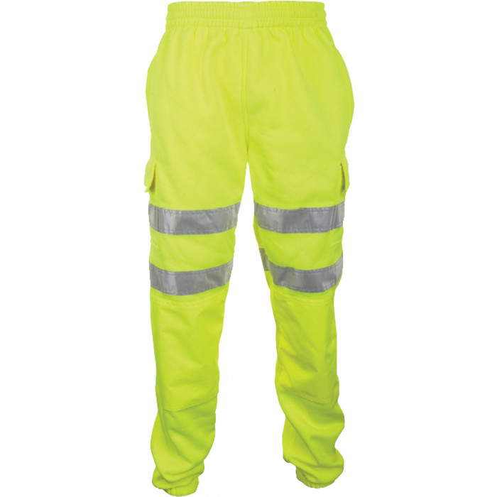 Hi Vis Sweat Jogging Bottoms - Yellow