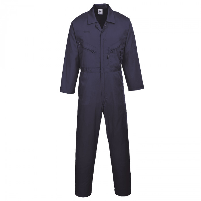 Standard Boiler Suit With Zip - Navy