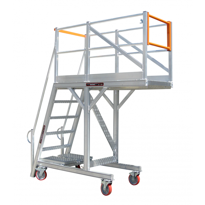 SAFESMART Access Platform Canti-lever 1700mm 6 Step HD with Castors